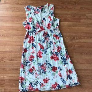 Tropical Floral Half Wrap Dress